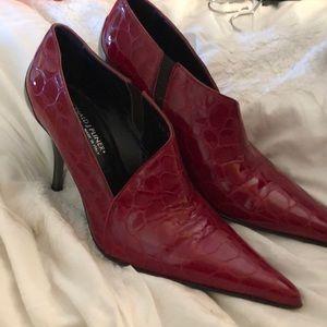 Vintage red Donald J Pliner bootie